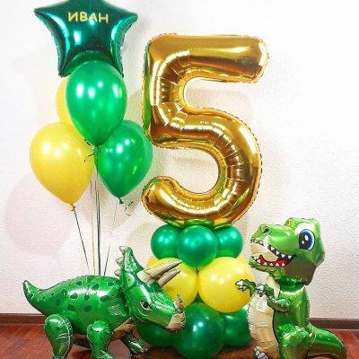 Шары с динозаврами 17