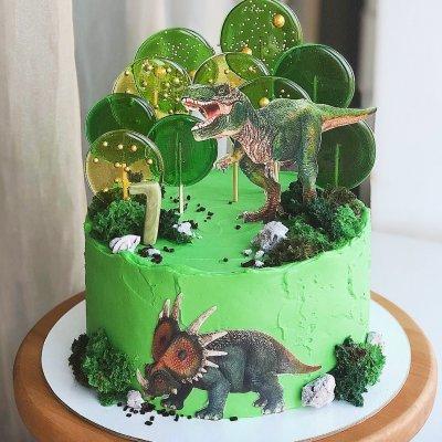 Торт с динозаврами №1