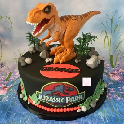 Торт с динозаврами №2