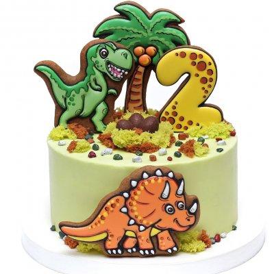 Торт с динозаврами №26