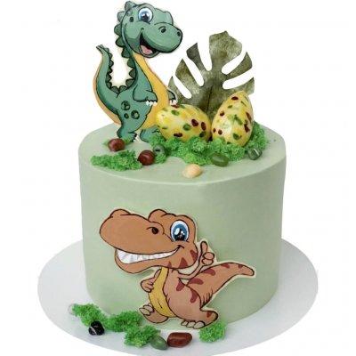 Торт с динозаврами №25
