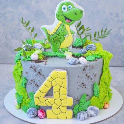 Торт с динозаврами №13