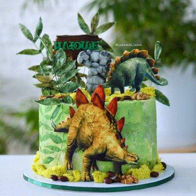 Торт с динозаврами №10