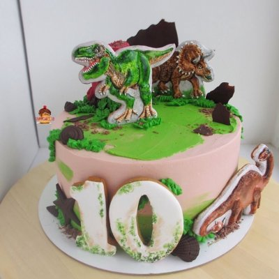 Торт с динозаврами №28