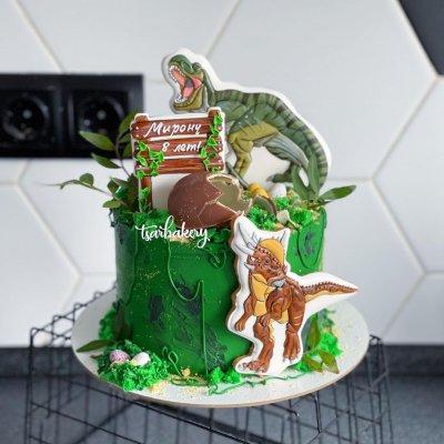 Торт с динозаврами №22