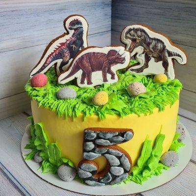 Торт с динозаврами №21