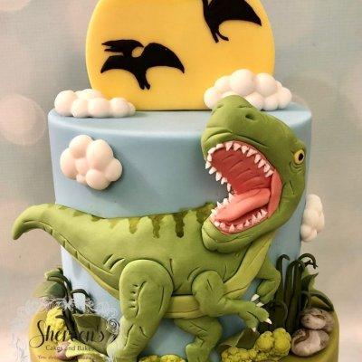 Торт с динозаврами №27