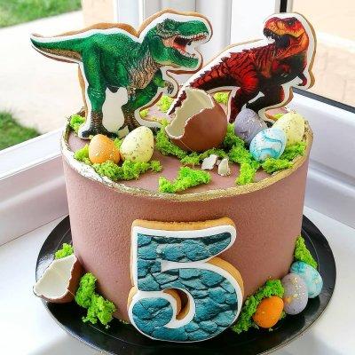 Торт с динозаврами №20