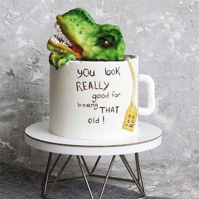 Торт с динозаврами №24