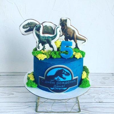 Торт с динозаврами №19