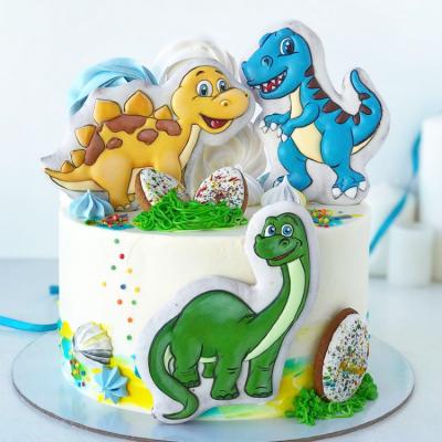 Торт с динозаврами №3