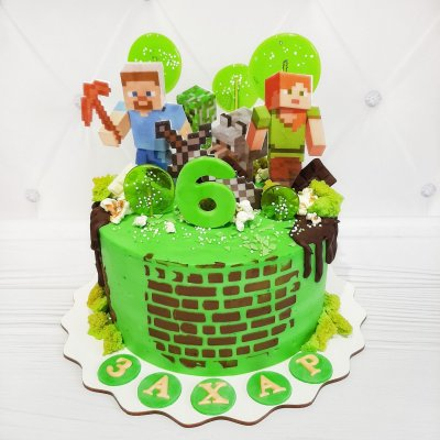 Торт Майнкрафт №2