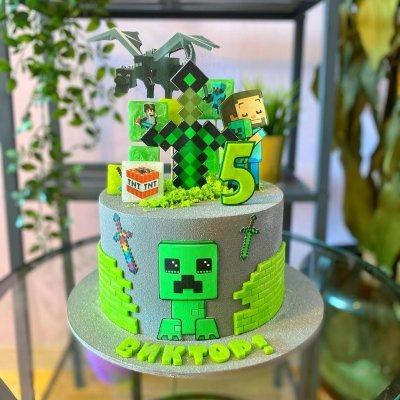 Торт Майнкрафт №9