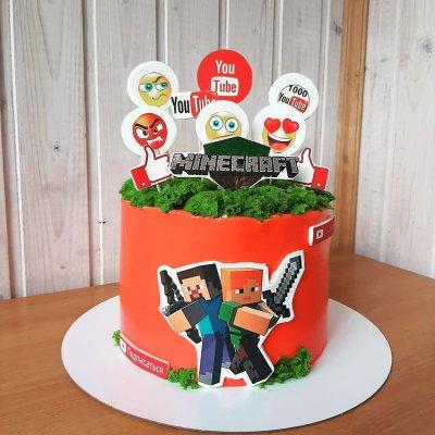 Торт Майнкрафт №8