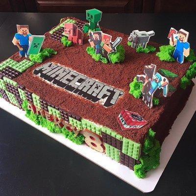 Торт Майнкрафт №22