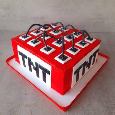 Торт Майнкрафт №17