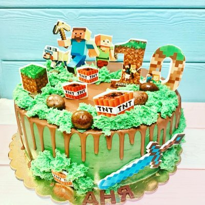 Торт Майнкрафт №3