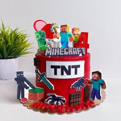 Торт Майнкрафт №10