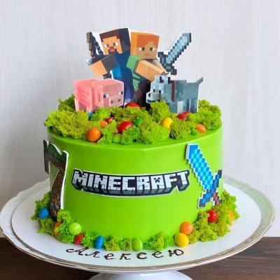 Торт Майнкрафт №12