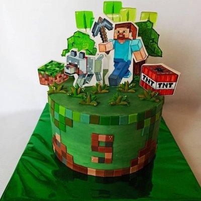 Торт Майнкрафт №23
