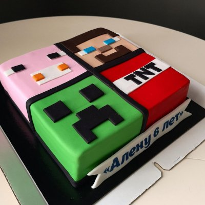 Торт Майнкрафт №24