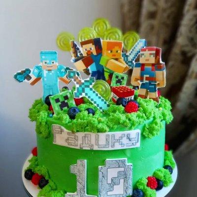 Торт Майнкрафт №25