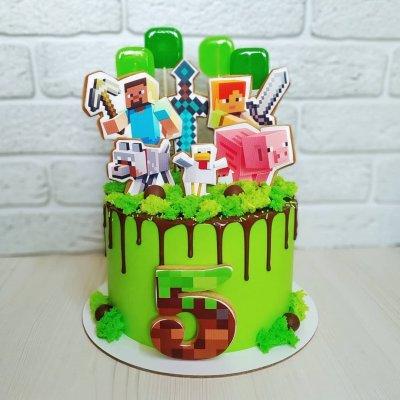 Торт Майнкрафт №21