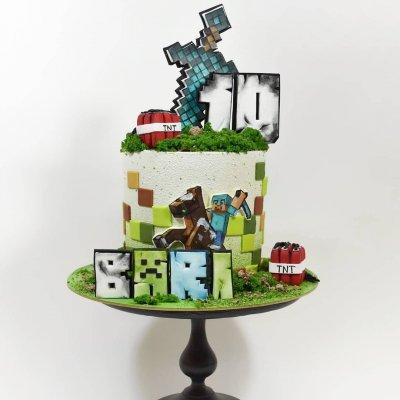 Торт Майнкрафт №13