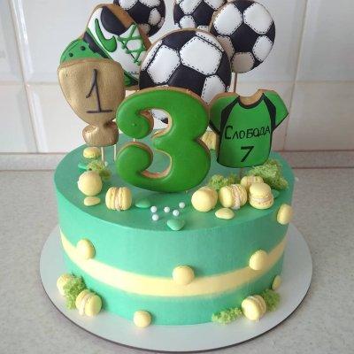 Торт футбол №7