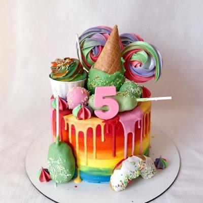 Торт со сладостями №10
