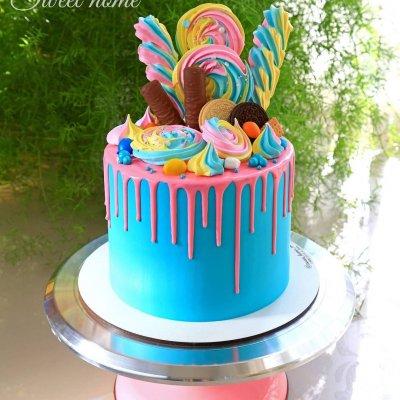 Торт со сладостями №16