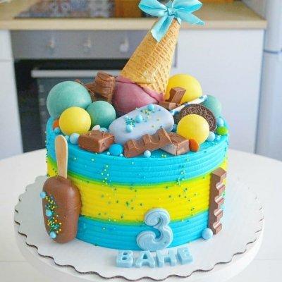 Торт со сладостями №14